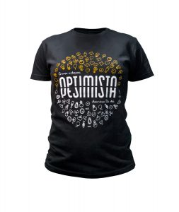 Woman's shirt Optimista Pesimista front